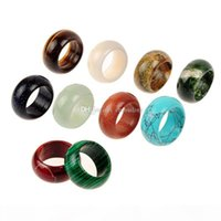 Moda jóias vintage olhar de pedra aleatória personalidade verde turquesa anel malaquita tigre olho azul areia pedra picareta