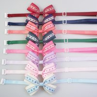 Dog Apparel Handmade Rhombic Gird Pattern Bow Ties Polyester Neck Tie For Small Large Dogs Cats Pet Grooming Accessories 8 Colors