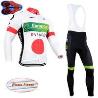 2021 Europcra Invierno Ciclismo Jersey Jersey Set Hombres Termal Fleece Manga larga Camisetas Pantalones de babero Kits Mountain Bike Ropa Ropa Bicicleta Sports Trajes S21033020