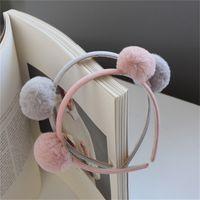 Kinder Haarschmuck Stirnband Nette Herbst und Winter Plüschkugel Baby Haare Stirnband Großhandel Baby Haarband 1614 v2