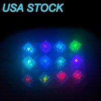 LED Light Ice Cubes Luminous Night Lamp Party Wedding Cup Decoration Bar USA STOCK