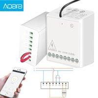 Aqara LLKZMK11LM Two-way Control Module Wireless Relay Controller 2 Channels Work For smart home APP & Home Kit Control Module