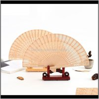 Favor Event Festive Party Supplies Home Garden Drop Delivery 2021 Personalized Wooden Fan Favors And Gifts For Guest Sandalwood Hand Wedding
