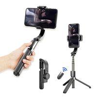 Selfie Monopods Gimbal Smartphone 3 in 1 Stick Stick Stabilizzatore del treppiede con telecomando Bluetooth per iOS Android Phones Gorpro Action Camera sportiva
