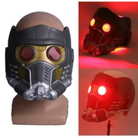 Cosplay Yıldız Lord LED Kask Lateks Infinity Savaş Quill Led Maske Süper Kahraman Sahne Cadılar Bayramı Partisi Prop X0803