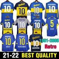 1981 Boca Retro Maradona Fussball Jersey Roman 95 96 97 Fussball Hemden Gago 98 99 00 tevez 01 02 03 Carlitos 04 05 Vintage