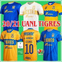 Men2021 2022 Mundial de Clubes UANL Tigres Gignac Soccer Jerseys Men Kits 20 21 Vargas Home Away World World Cup Mexico 2020 Football Shirts