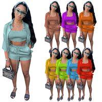 Katı Eşofman Setleri T-Shirt Şort Takım Elbise Yaz Moda Rahat Kıyafetler Gevşek Artı Boyutu Pantolon Giyim Seti Pijama CGY250