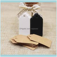 Tags, Jewelry Packaging & Display Jewelry300Pcs Black Brown White Cardboard 2*4Cm Blank Scallop Gift For Diy Hang Price Labels Tag Greeting