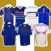 1982 1998 2010 Retro Versión Francia Fútbol Jersey 98 02 06 Zidane Henry Maillot de Foot Shirt 2000 Inicio Trezeguet Uniforme de fútbol