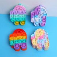 50%off Mini Bubbles Popper Bag Sensory Rubber Keychain Silicone Purses Cute Shape Key Ring Fidget Push Pop Bubble Puzzle Cases Wallet Coin Bags gift E103 item