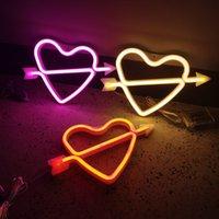 EU US Good Sale Cupid Love Neon Signs Led Night Lights Arrow Decoration 7colors Options Indoor Holiday Lighting