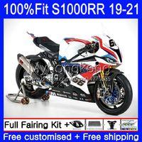 Fairings Injection Mold OEM For BMW S-1000 S 1000 RR S 1000RR S1000 RR Bodywork 3No.2 S-1000RR S1000RR 19 20 21 S1000-RR 2019 2020 2021 100% Fit White red blue hot Bodys Kit