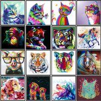 5d diy diamante arte pintura animal cross ctitch kit padrão adesivo de parede mosaico bordado pintura decoração de casa 30 * 30cm