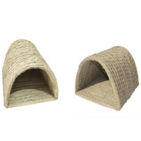 Kennels & Pens Handwoven Straw Pet Nest Foldable Durable Hamster Playing Sleeping For Guinea Pig House Supplies