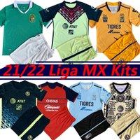 21/22 Liga MX Club América Futebol Jerseys C.Dominguez O.peralta P.Aguilar Camisetas de Fútbol 2021 2022 Léon Tigres Chivas Giovani Cáceas Men + Kits Kits Football Shirt