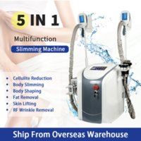 Eu Fast Ship 2 Cryo Handles Work At Same Time Cavitation Rf Equipment Cryotherapy Vacuum Cellulite Reduction Lipolaser Slimming Weight Ce3