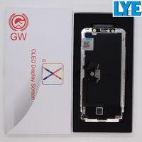 GW OLED عرض ل iphone X شاشة LCD لوحات محول الأرقام كاملة إصلاح أجزاء إصلاح