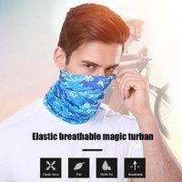 Lenços elásticos respiráveis turbante mágico multifuncional capas de rosto capa headband pescoço manga impermeável lavável lavável bandanas