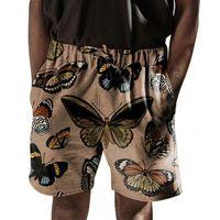 Pantalones cortos para mujeres New Mens Summer Casual Elástico Cintura Elástico Impresión digital Pantalones de playa SY0082