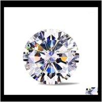 Lose Edelsteine Schmuck Drop Lieferung 2021 MOISSANITE Künstliche D Farbe Bare Diamond 0DOT5 / 0DOT6 / 30DOT8 / 1 CARAT Angeschnitten K Gold Hochzeit RI