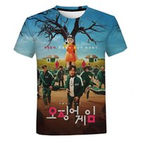 2021 Korean Teleplay Squid Game 3D Print T Shirt Men Women Casual Oversized Tee Unisex Hip Hop Streetwear Tops