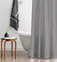 Shower Curtains Anti-mildew Washable Curtain Stripe Thicken Art Waterproof Rideau Douche Accessories DE50YL