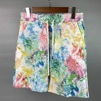 Herren Shorts Summer Jogger Graffiti Print Muster Schnelltrocknung Atmungsaktiv Casual Beatch Hosen 3 Farben Größe M-XXL