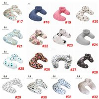 Baby Print Nursing Pillows Maternity u Shaped Breastfeeding Pillow Cartoon Crown Swan Elk Infant Cuddle Feeding Waist Cusion Ljja2273