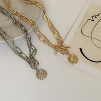 Chains European And American Double-layer Necklace Women Personality Simple Beauty Pendant Accessories Punk Clavicle Neck Chain
