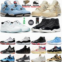 Branco Bred Cactus Jack Cinza frio 4 4s Rasta O que o tênis de basquete 11 11s Concord 45 Gama Azul Pantone esportes dos homens Sneakers