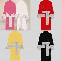 Erkekler Kadınlar Banyo Robe Klasik Jakarlı Tasarımcı Cornes 6 Renkler Yumuşak Dokunmatik Bornoz Pamuk Tek Parça Bornoz