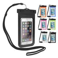 ماء pvc الهاتف الحقائب متنوعة الألوان في الهواء الطلق 4.7 بوصة 5.5 بوصة حقيبة الهاتف المحمول العالمي مع الحبل
