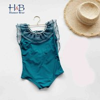 Humor Bear Summer New Toddler Infant Girls Swimsuit One-piece Swimwear Swimming Costume Cute Bikini 210430