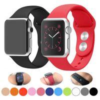 Substituição Strap Relógios Bandas Casos para Apple Watch Band Iwatch Series 1 2 3 4 5 6 Se Soft Silicone Pulseira 38 40 42 44mm tamanho original