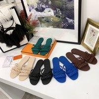 Moda Kadın Tasarımcı Zincir Terlik Kadın Sandalet Kauçuk Jöle Sandal Slaytlar Düz Flip Flop Terlik Parti Düğün Ayakkabı ile Kutusu Boyutu 35-40