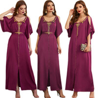 Ethnic Clothing Ramadan Women Party Evening Dresses Muslim Arab Handwork Diamonds Summer Abaya Dubai Kaftan Islamic Turkish Maxi Robe