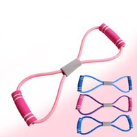 Resistance Bands Figure 8 Tensioner Open Shoulder Beauty Back Female Elastic Band Yoga Exercise Home Fitness Equipment Training Stretcher Ro