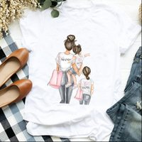 Love Fashion Clothes Daughter Womens T Shirts Mom 90s Cartoon Mother Graphic Printed Tee Top Female