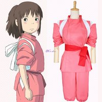Tema Kostüm Japenese Anime Spirited Uzakta Cosplay Suit Takino Ogino Chihiro Cosplay Kostüm Kohakunushi Kamikakushi Kadınlar Pembe Kimono Set