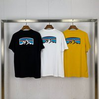 여름 남성 T 셔츠 디자이너 패션 풍경 인쇄 폴로 고품질 순수 면화 캐주얼 짧은 소매 - 8226