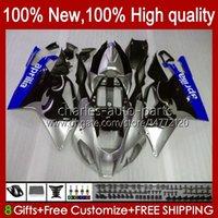 Moto Fairings For Aprilia RSV1000R Mille RV60 RSV-1000 RSV1000 R RR 04 05 06 Bodywork 11No.170 RSV1000RR RSV 1000 R 1000R 1000RR 2004 2005 2006 Bodys Kit blue blk stock