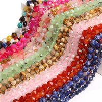 Otros Prehnitas facetados naturales 6/8/10 mm Beads al por mayor Rosa Cuarzo Copo de nieve Jaspe Aventurine Strand Beaded DIY Haciendo Joyas