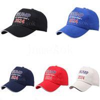 Trump 2024 Baseball Hat Summer Sun Shading Hats With Adjustable Strap Party Cap DD093
