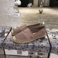 2021 Frauen Maultiere Sandalen Mode Beiläufige Folien Espadrille Maultier Schwarz Nude Lila flach Sandalen Mesh Stickerei Müßiggänger Damen Seil Sole Größe 35-40