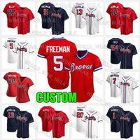 5 Freddie Freeman Jersey 3 Dale Murphy 13 Ronald Acuna Jr. Ozzie Almies 7 Dansby Swanson 11 Ender Inciarte Baseball 20 Marcell Ozuna Men