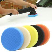 Coloque Kits de almofada de polimento de carro de 6 polegadas 5 pçs / set Sponge Wheel Waxing Auto Wash Sponges Escovas