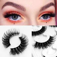 Faux cils pestañas 8D false eyelashes naturally curl thick mink hair 10 pairs of lashes set pink color box packaging lash fake eyelash