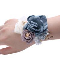 Gelinler için Buketler Kızlar Bilek Çiçekler Broş El Buketi Gelinlik Düğün Aksesarya Bilek Korsajı için