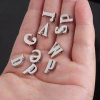 10mm 여성 26 초기 편지 펜던트 매력 실버 팔찌 팔찌 목걸이 작은 A-Z 알파벳 DIY 매력 보석 액세서리 ZHL2428
